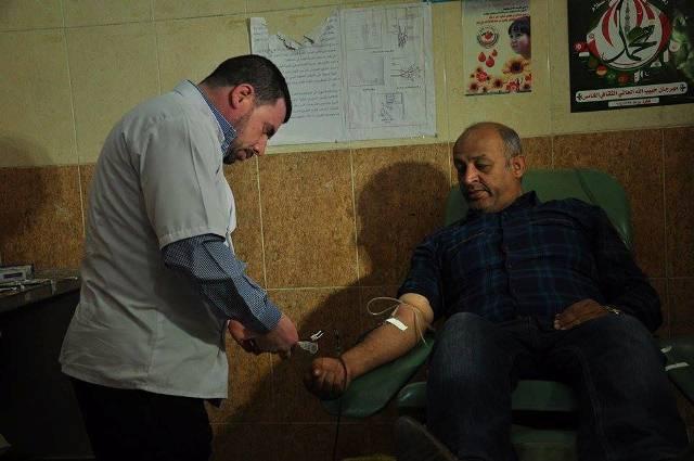 """بالصور – """" أبناء ذي قار """" يطلقون الحملة الثانية للتبرع بالدم لدعم الحشد الشعبي"""